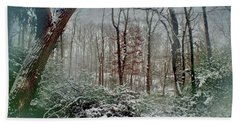 Bath Towel featuring the photograph Dreamy Snow by Sandy Moulder