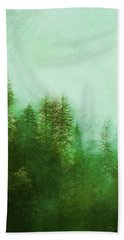 Hand Towel featuring the digital art Dreamy Spring Forest by Klara Acel
