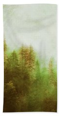 Hand Towel featuring the digital art Dreamy Summer Forest by Klara Acel