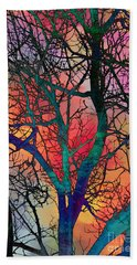 Hand Towel featuring the digital art Dreamy Sunset by Klara Acel