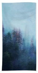 Hand Towel featuring the digital art Dreamy Winter Forest by Klara Acel