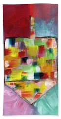 Dreidel Of Many Colors- Art By Linda Woods Bath Towel