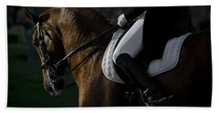 Bath Towel featuring the photograph Dressage D5284 by Wes and Dotty Weber
