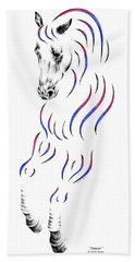 Dressage Horse Dancer Print Bath Towel