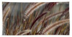 Dried Desert Grass Plumes In Honey Brown Bath Towel