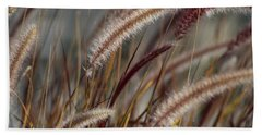 Dried Desert Grass Plumes In Honey Brown Hand Towel