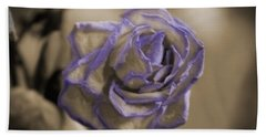 Dried Rose In Sienna And Ultra Violet Hand Towel