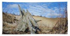 Dried Stump At Warren Dunes Bath Towel
