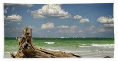 Hand Towel featuring the photograph Driftwood And Fort Myers by Greg Mimbs