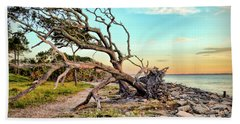 Hand Towel featuring the photograph Driftwood Beach Morning 2 by Kerri Farley