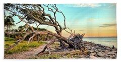 Driftwood Beach Morning 2 Hand Towel