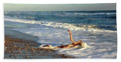 Driftwood In The Surf Hand Towel by Roupen  Baker