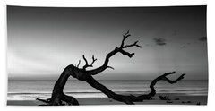 Driftwood Morning In Black And White Bath Towel