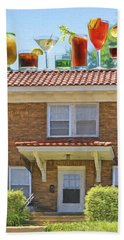 Drinks On The House Hand Towel by Nikolyn McDonald