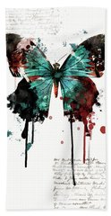 Dripping Butterfly Hand Towel