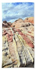 Dripping Color In Valley Of Fire Bath Towel