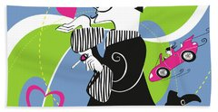 Driven To Love Hand Towel