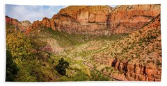 Driving Into Zion Hand Towel