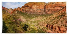 Driving Into Zion Bath Towel