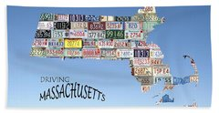 Driving Massachusetts Bath Towel