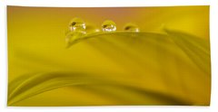 Drops Resting On A Leaf Bath Towel