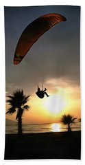 Dropzone At Dusk Hand Towel