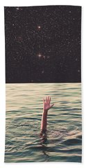 Drowned In Space Hand Towel by Fran Rodriguez