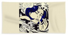 Drowning Girl Hand Towel by Roy Lichtenstein