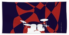 Drums In Purple Strife Hand Towel by David Bridburg