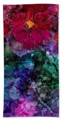 Drunken Flowers Hand Towel