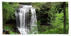Dry Falls In The Spring Hand Towel by Cathy Harper