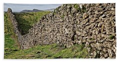 Dry Stone Wall In The Yorkshire Dales Bath Towel