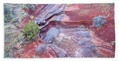 Dry Stream Canyon Areial View Bath Towel