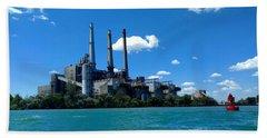 Dte River Rouge Power Plant Bath Towel