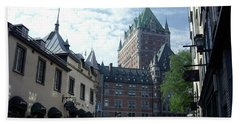 Hand Towel featuring the photograph du Fort Chateau Frontenac by John Schneider