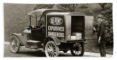 Du Pont Co. Explosives Truck Pennsylvania Coal Fields 1916 Bath Towel
