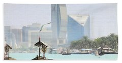 Dubai Creek- Old And New Hand Towel by Scott Cameron