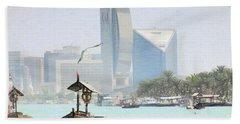 Dubai Creek- Old And New Bath Towel by Scott Cameron