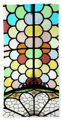 Dublin Art Deco Stained Glass Hand Towel by KG Thienemann