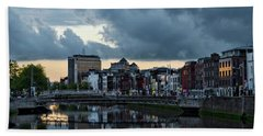 Dublin Sky At Sunset Bath Towel