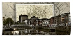 Dublin Skyline Mapped Bath Towel