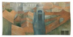 Dubrovnik Rooftops Bath Towel by Steve Mitchell