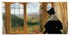 Duchess Of Abercorn Looking Out Of A Window Hand Towel