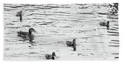 Duck And Ducklings Bath Towel