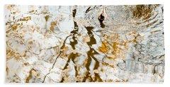 Duck Float In Water Reflections Bath Towel