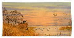 Duck Hunting Calls Bath Towel by Bill Holkham