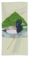 Duck On Pond #2 Bath Towel