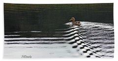 Duck On Ripple Wake Bath Towel