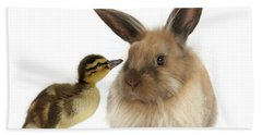 Duck Out Bunny Hand Towel
