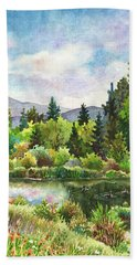 Duck Pond At Caribou Ranch Hand Towel